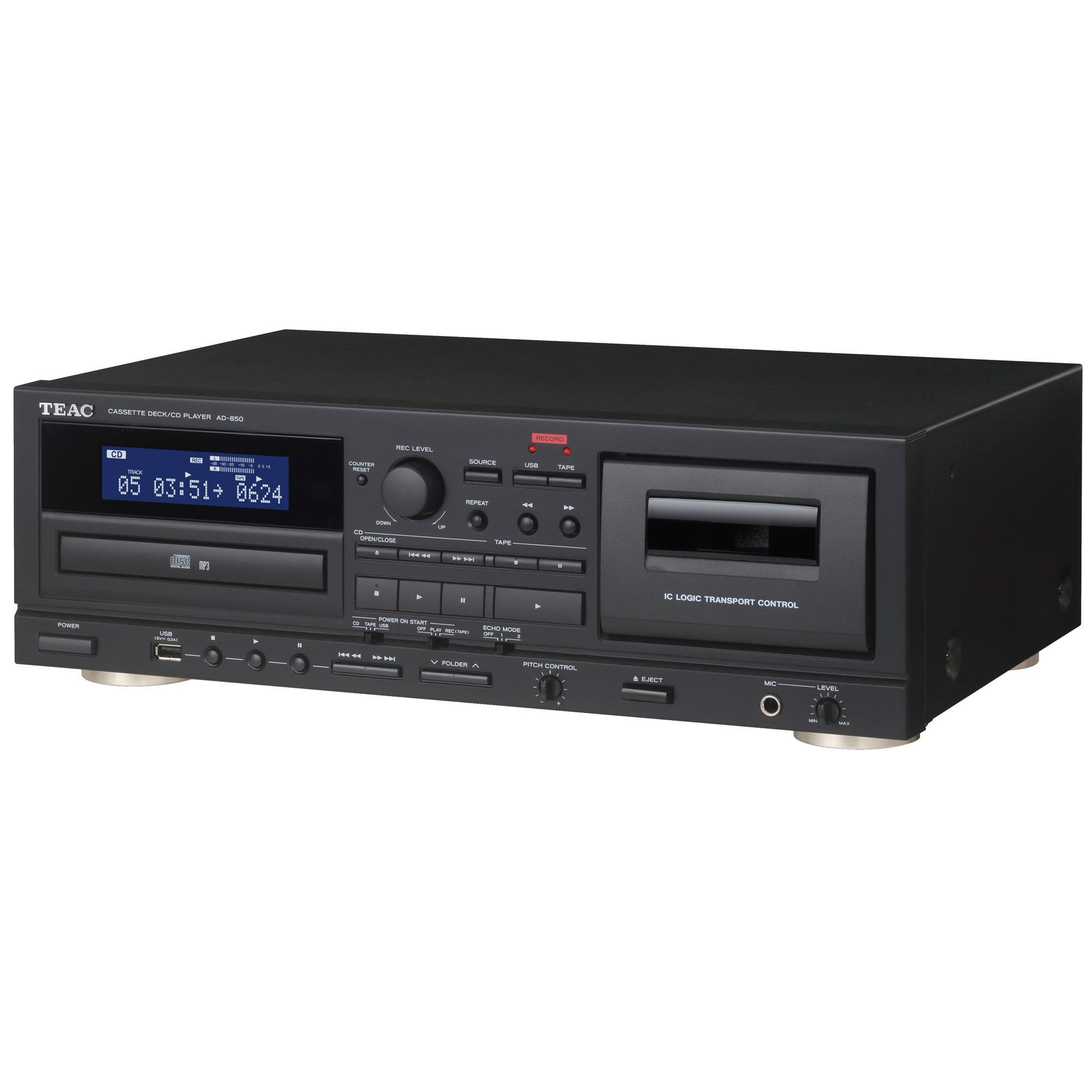 teac ad 850 kassettendeck cd player mit aufnahmefunktion. Black Bedroom Furniture Sets. Home Design Ideas