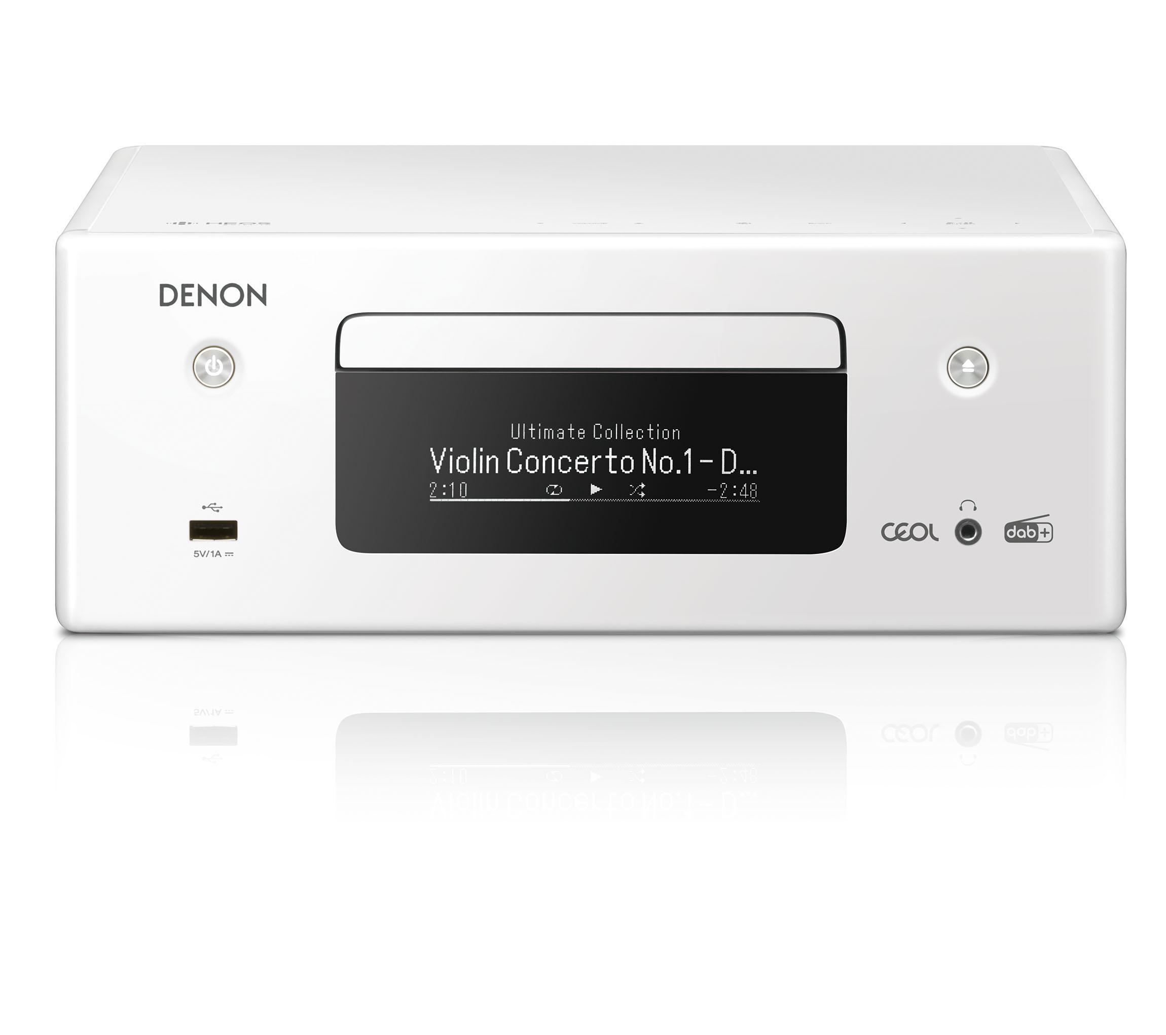 Denon RCD-N 11DAB weiss Netzwerk-CD-Receiver 101284