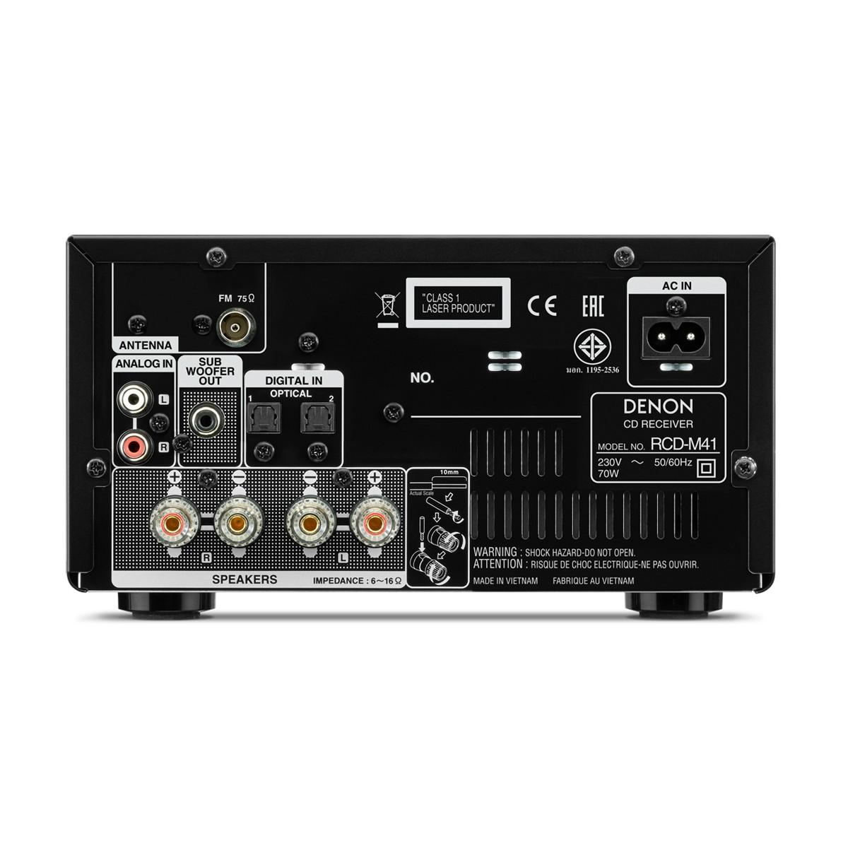 denon rcd m 41 dab schwarz cd receiver