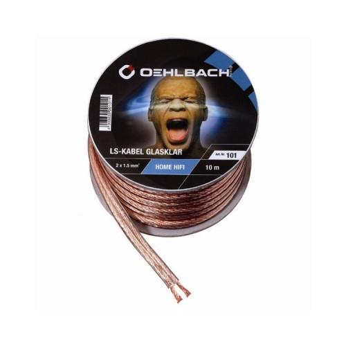 Oehlbach 1,5 qmm Lautsprecherkabel SB-Rolle transparent 10m