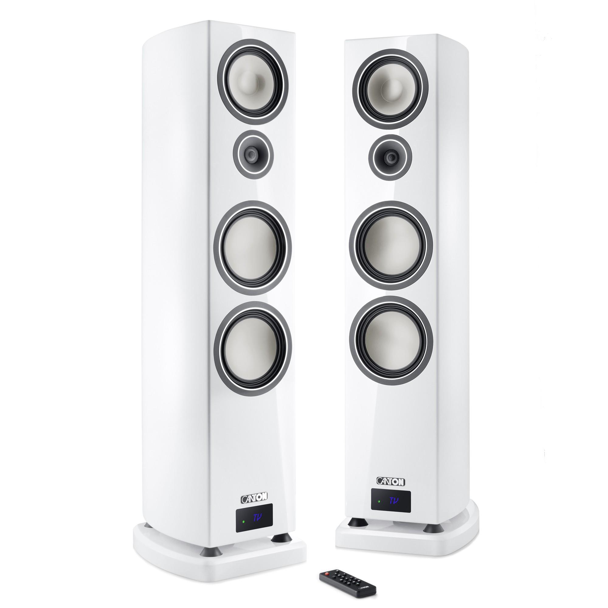 Canton Smart Vento 9 weiss highgloss Set / Paar Wireless Aktiv-Standlautsprecher