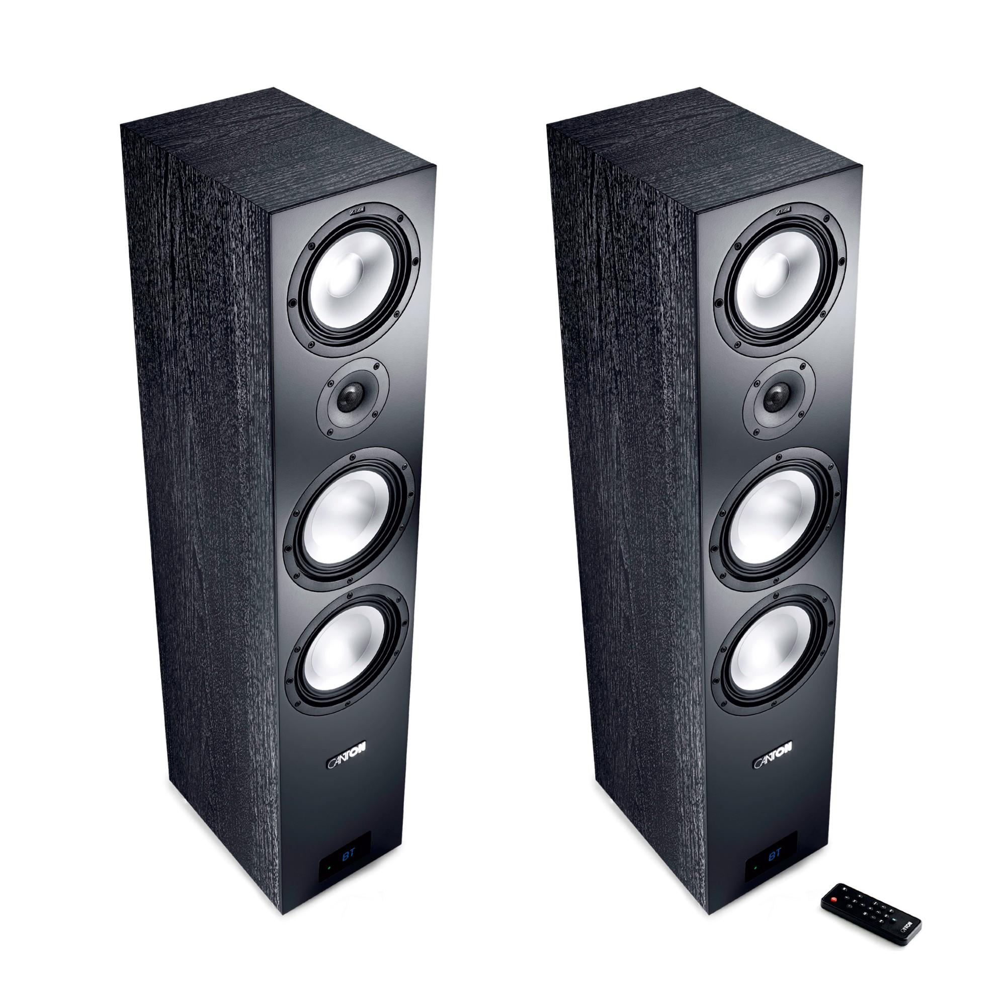Canton Smart GLE 9 schwarz Set / Paar Wireless Aktiv-Standlautsprecher