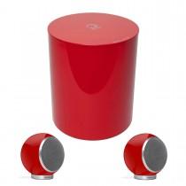 Elipson Planet M 2.1 rot hochglanz Lautsprecher-Set