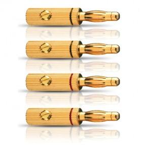 Oehlbach Banana Pin B3 4er-Set Lautsprecher-Verbinder