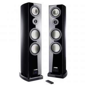Canton Smart Vento 9 schwarz highgloss Set / Paar Wireless Aktiv-Standlautsprecher