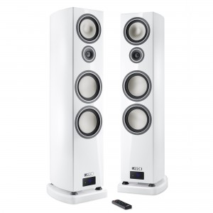 Canton Smart Vento 9 weiss highgloss Set Wireless Aktiv-Standlautsprecher