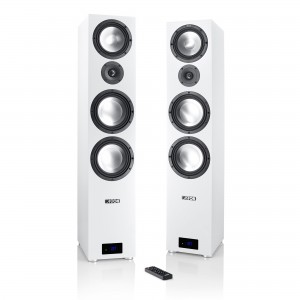 Canton Smart GLE 9 weiss Set / Paar Wireless Aktiv-Standlautsprecher