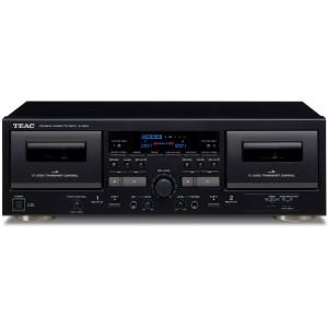 Teac W-1200 schwarz Doppel-Kassettendeck