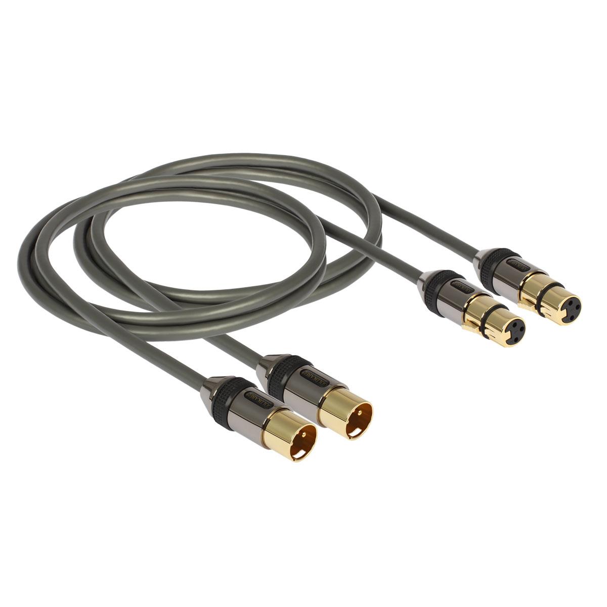 Goldkabel Profi XLR Stereo Kabel 0,75m 57063