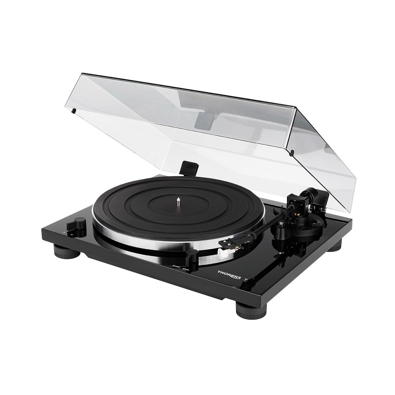 Thorens TD 201 schwarz hochglanz Plattenspieler 44212