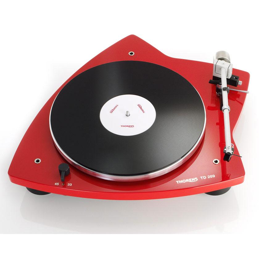 Thorens TD 209 hochglanz rot Plattenspieler 44024