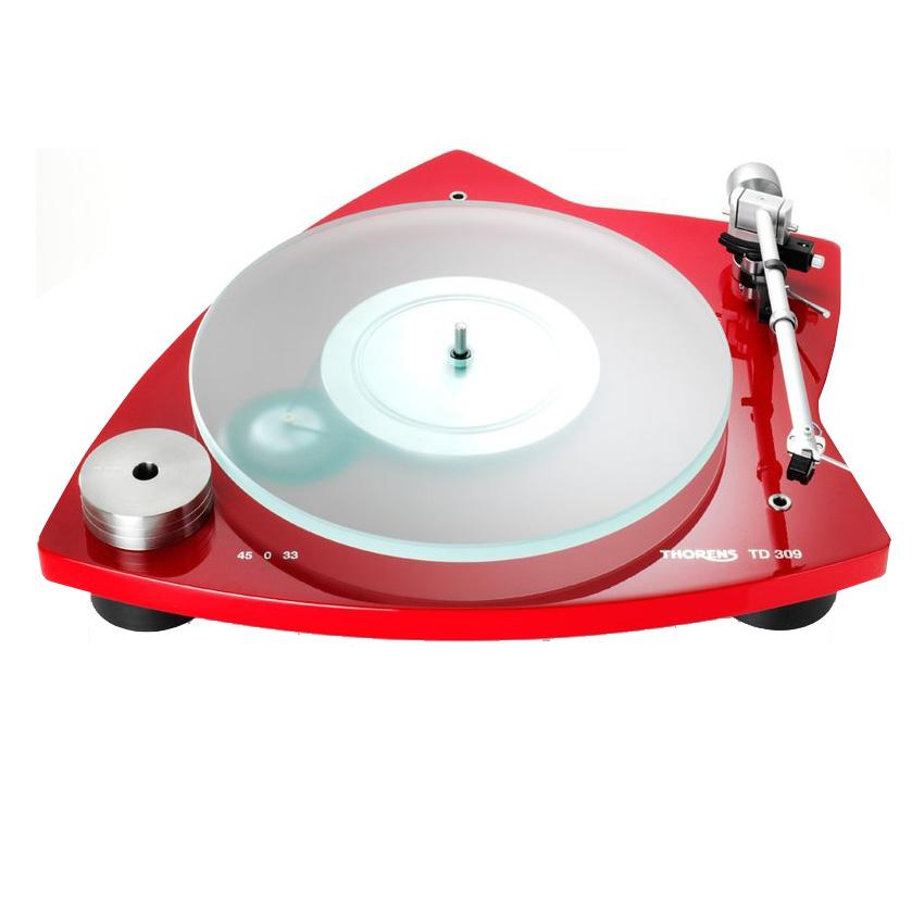Thorens TD 309 hochglanz rot Plattenspieler 44001