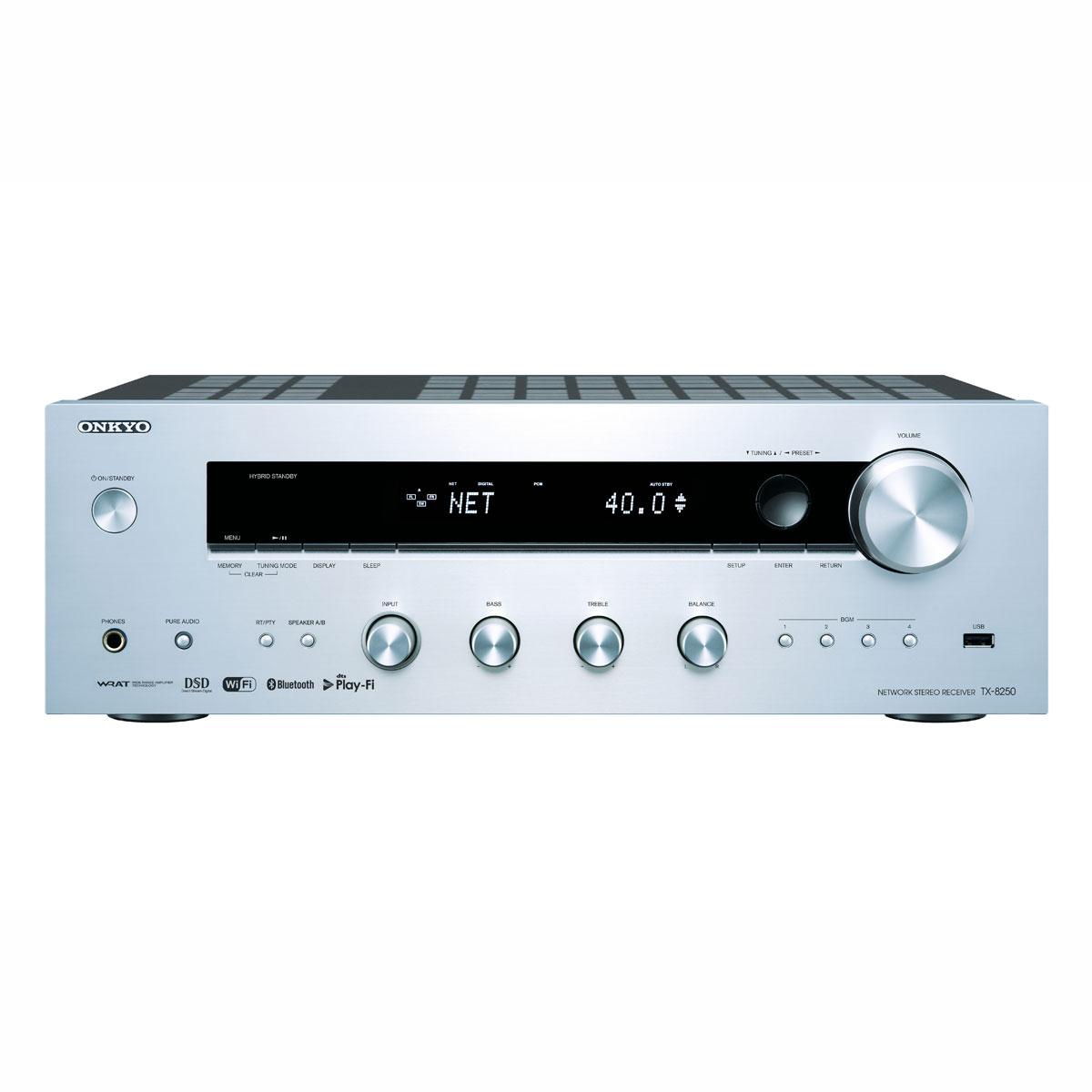 Onkyo TX-8250 silber Netzwerk-Receiver 991029