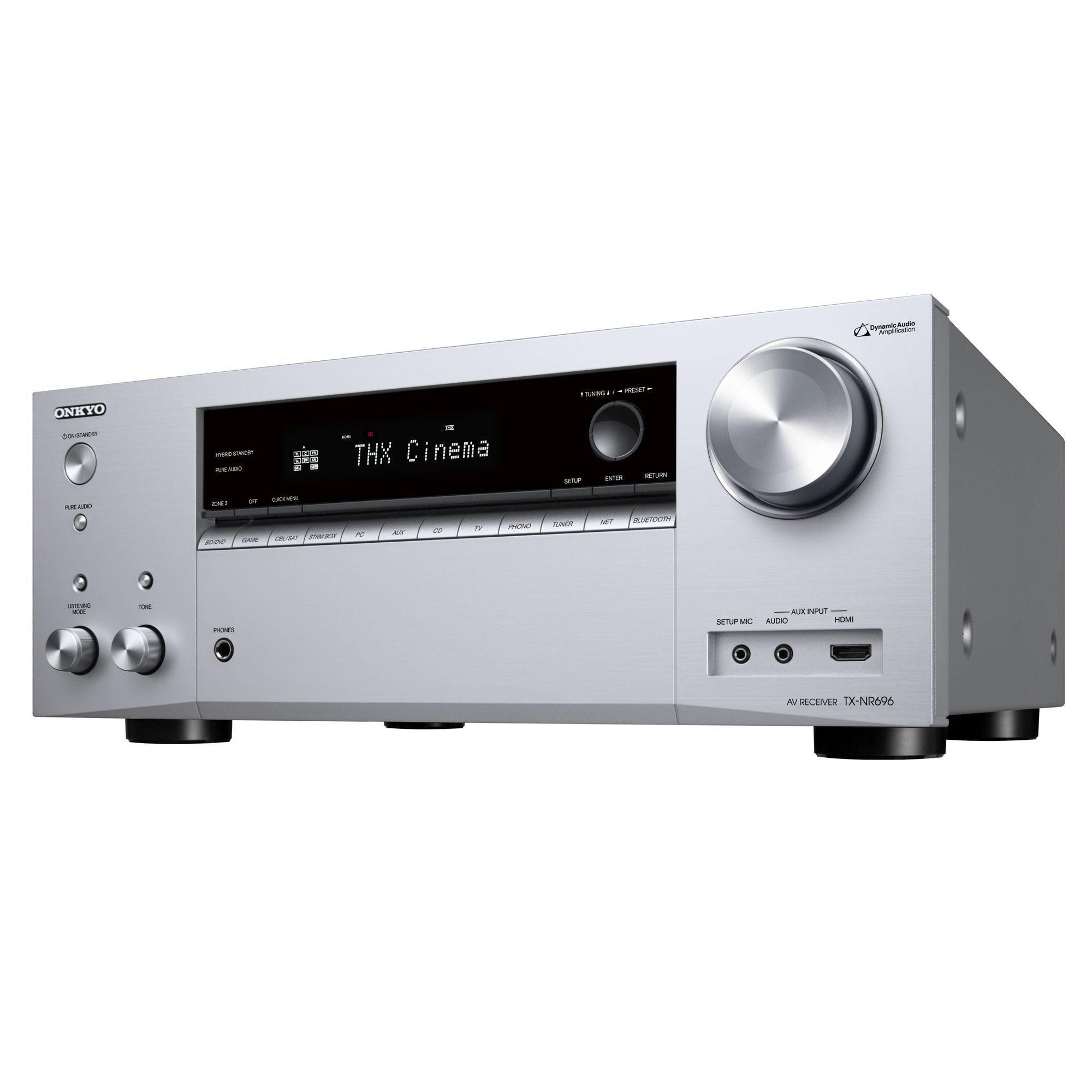 Onkyo TX-NR 696 silber Heimkinoreceiver 101151
